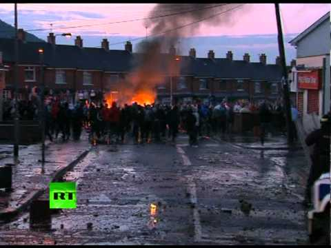 Belfast riots: More video of 'Molotov cocktail' battles in N. Ireland