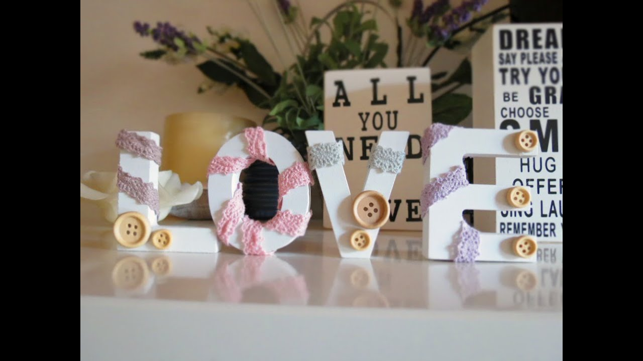 ... te: come realizzare romantiche lettere per decorare la casa - YouTube
