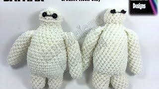 Rainbow Loom Big Hero 6 Baymax Action Figure/Doll/Charm - 3D Amigurumi Crochet Hook Only - Loom-less