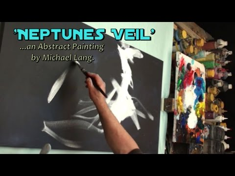 Abstract Art painting 'Neptunes Veil' Modern, contemporary, Mix Lang How to DEMO