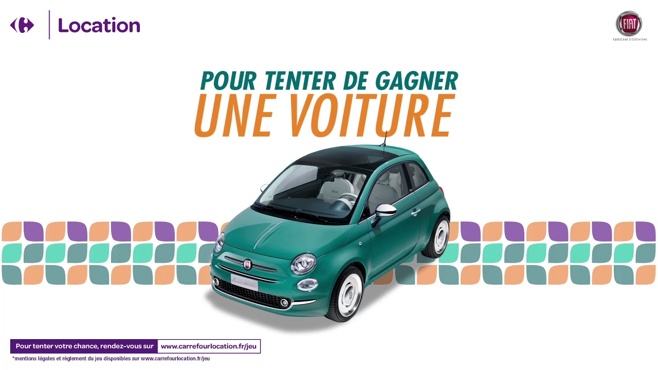 grand jeu carrefour location et fiat une voiture gagner youtube. Black Bedroom Furniture Sets. Home Design Ideas