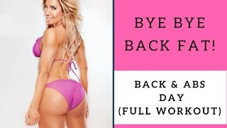 Bye Bye Back Fat - Full Workout (condo gym)
