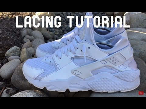 on sale 5df43 9cdeb HOW TO LACE Nike Air Huarache