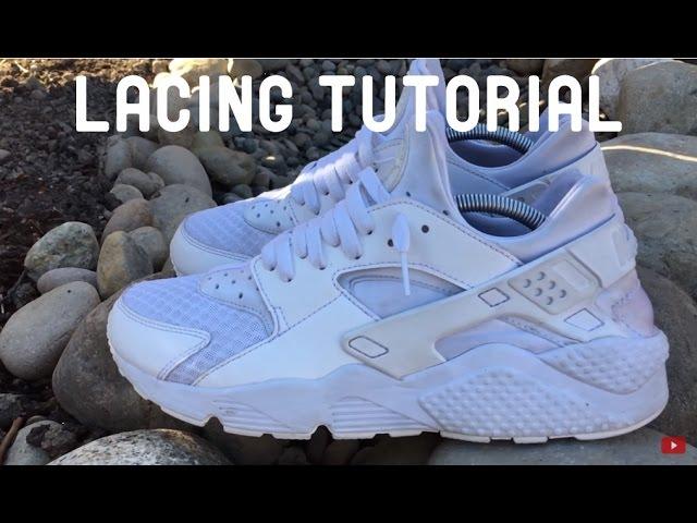 HOW TO LACE Nike Air Huarache \