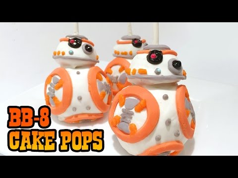 How to Make BB-8 CAKE POPS! Star Wars