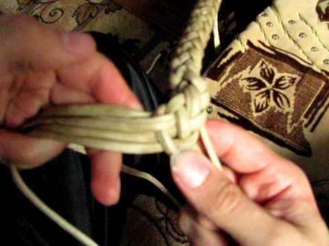 """змеиное"" плетение 8 полосками..."