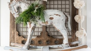 Applying Furniture & Antiquing Wax to the Rocking Horse