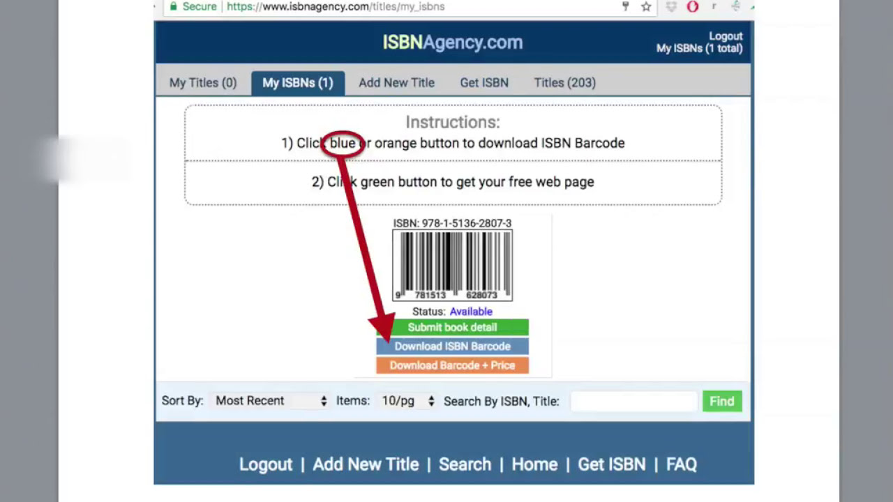 How To Download ISBN Barcode - with no price