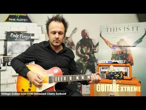 Guitare Xtreme Magazine #77 - Vintage Guitars Icon V100 Distressed Cherry