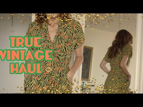 TRUE VINTAGE CLOTHING & ACCESSORIES HAUL 1920s - 1980s