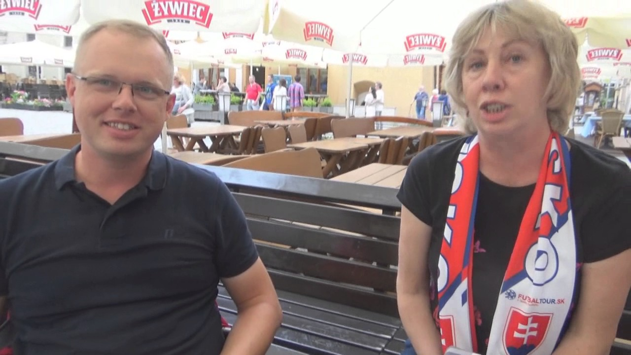 Euro 2017. Kibice Słowacji i Polski przed meczem