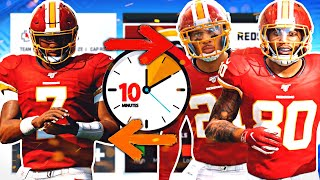 I gave myself 10 MINUTES to rebuild the REDSKINS... (NFL's Worst Team)