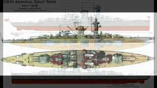 German pocket battleship Graf Spee tribute.