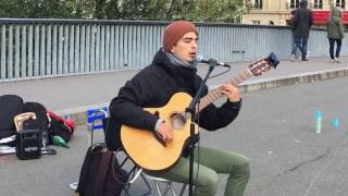 Mano Solo, Allo Paris (cover / reprise) - Busking in the streets of Paris, France