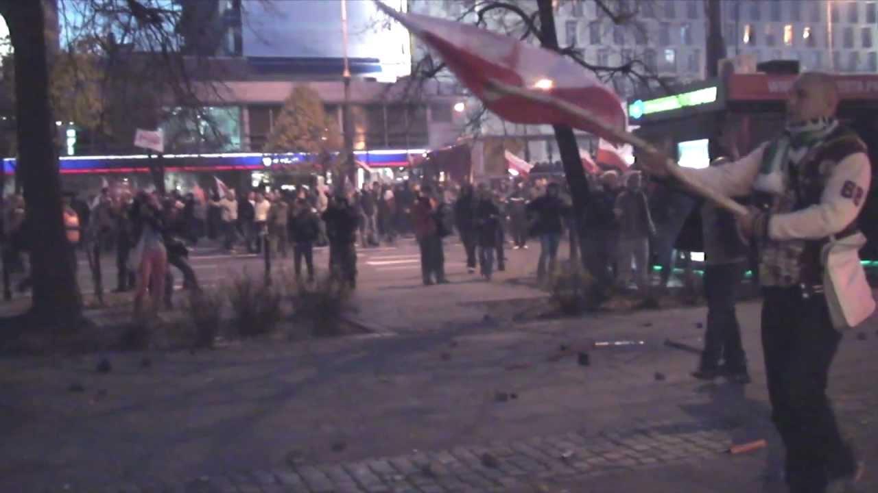 Interwencja oraz prowokacyjne działania policji na Marszu Niepodległości 2012