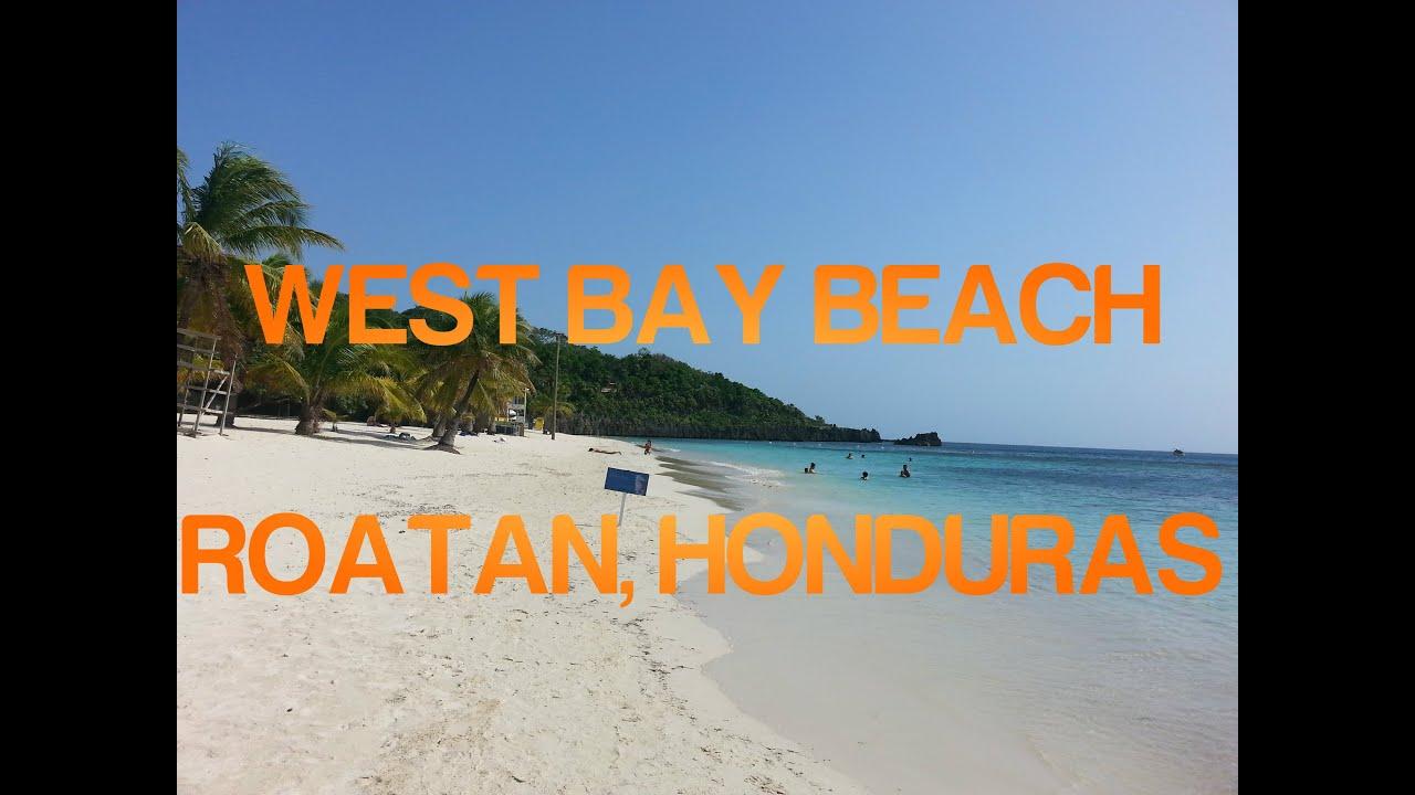 Walking Tabyana Beach in Roatan, Honduras (West Bay Beach
