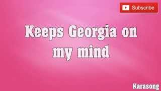 Video GEORGIA ON MY MIND - ( KARAOKE ) download MP3, 3GP, MP4, WEBM, AVI, FLV Agustus 2018