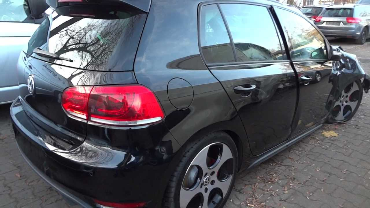 Vw Golf 6 Gti Crash Unfall Crashed Totalschaden R32