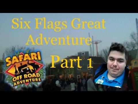Six Flags Great Adventure Safari Off Road Adventure Tour Guide Bri 1st half Part 1
