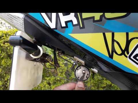 #yamaha #r15 How To Make Auto Folding Number Plate For Universal Bike