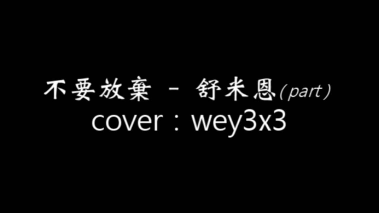 不要放棄(中文版)part-舒米恩(cover w/guitar)