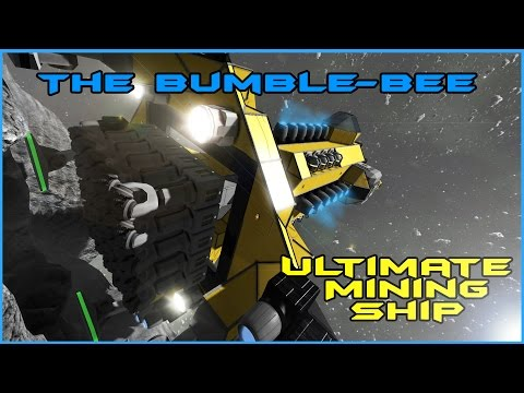 Space Engineers: Ultimate Mining Ship, Over 30,000k Ore Per Hour!