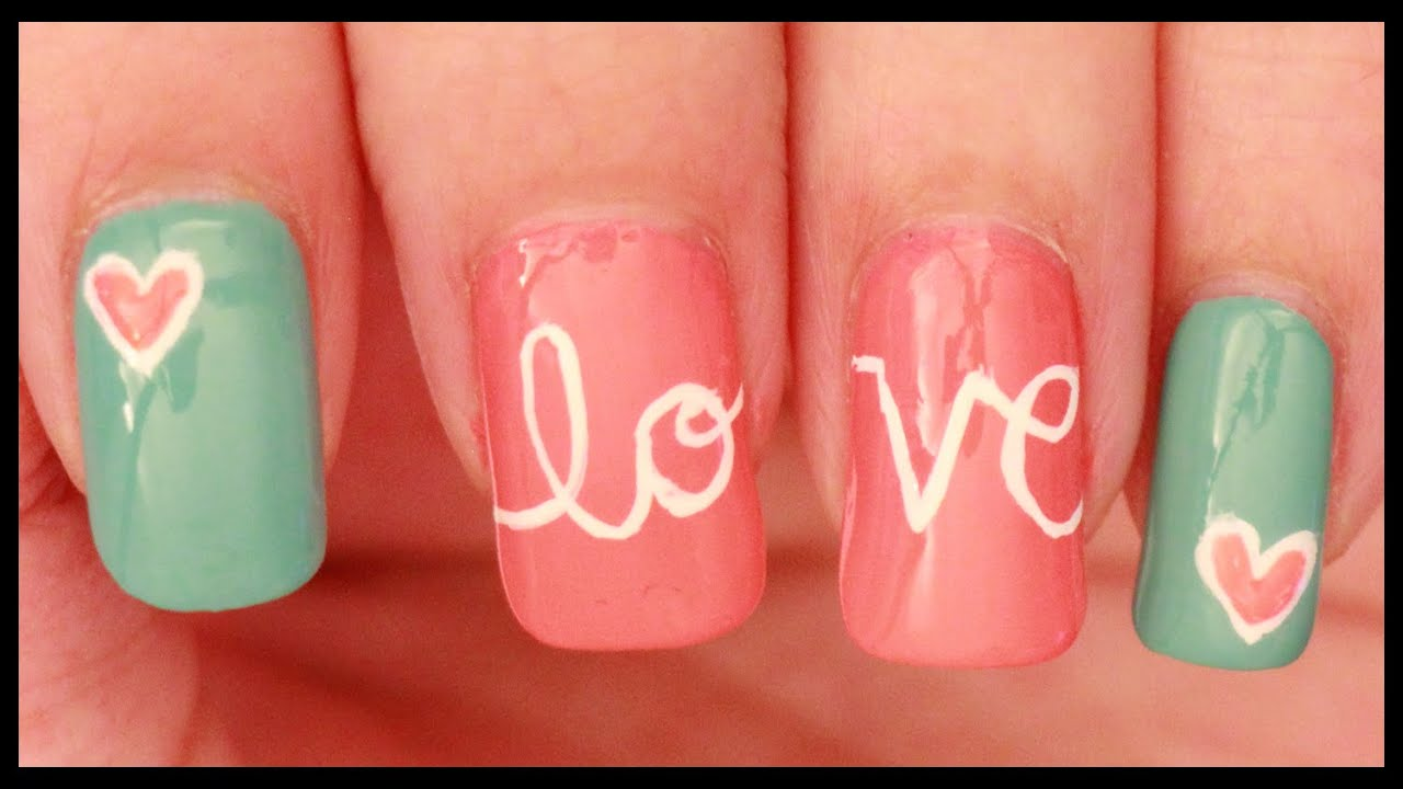 Love nail art - YouTube