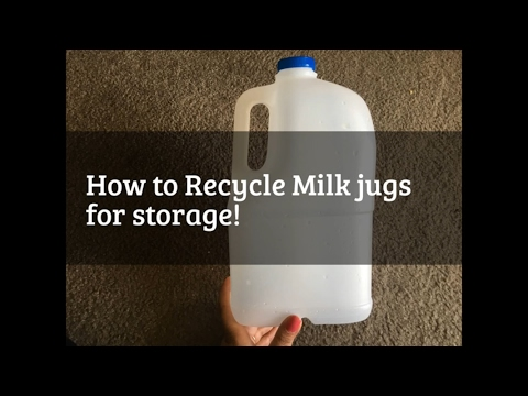 Recycle Milk Jugs at home - possible storage ideas!