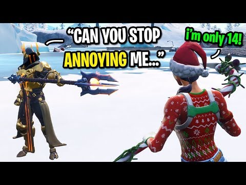 I pretended to be the most ANNOYING 14 year old kid on Fortnite... (GUY GETS MAD!)