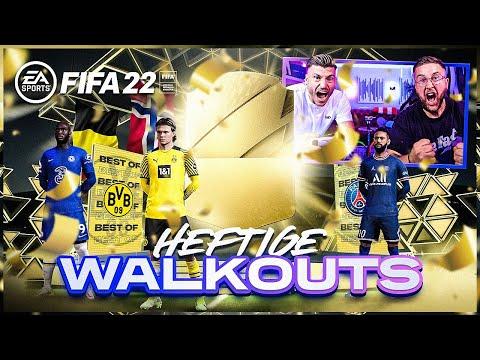 Wir ZIEHEN die ERSTEN HEFTIGEN WALKOUTS 😱😍Unser BESTER Pack Opening START in FIFA 22 !!