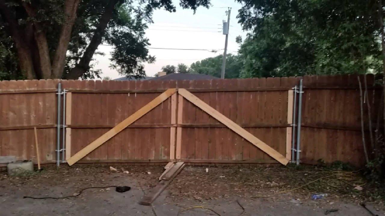 i put a gate on my fence youtube