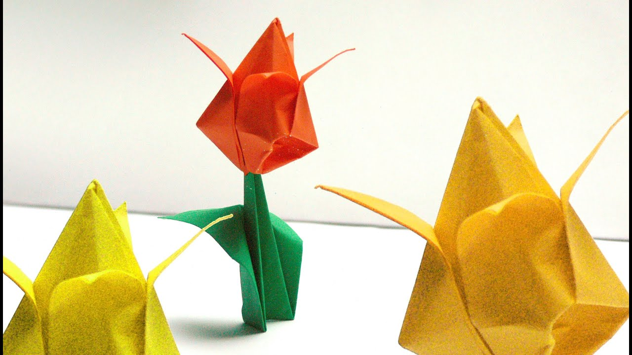 Tulpen Origami Anleitung