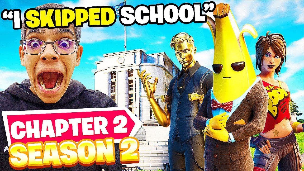 Download I SKIPPED School To Play Fortnite SEASON 2!! (GONE WRONG)