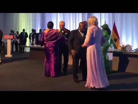Charles & Camilla Dance With The President & First Lady Of G
