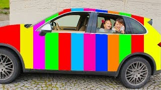 Rainbow Car with Magic Balls