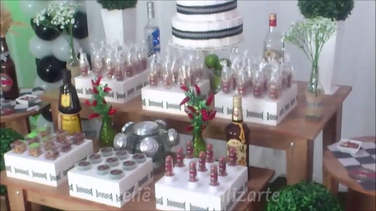 Decoraç u00e3o de festa Boteco Rústico YouTube # Decoração Festa De Boteco Para Homem