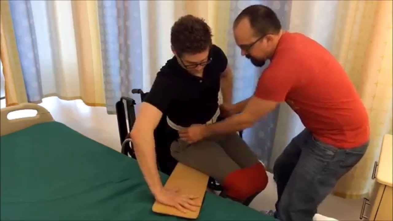 2x Amputee Sliding Board MinA WC to Bed - YouTube