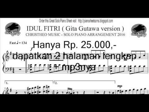 Idul Fitri ( Gita Gutawa version ) - Christheo Music Solo Piano Arrangement