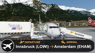 [P3D V4.3] Full Flight | Innsbruck to Amsterdam (LOWI-EHAM) | PMDG 737-800 | Transavia | TRA6602