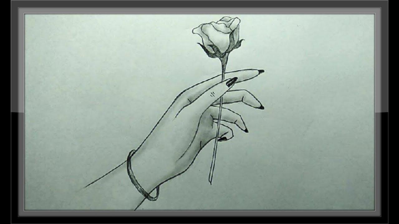Sketch Art Flower Drawing