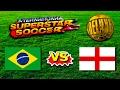 Brazil vs England  - - International Superstar Soccer Deluxe - Sega Genesis / Mega Drive HD