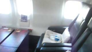 zach on the couch in the airplane