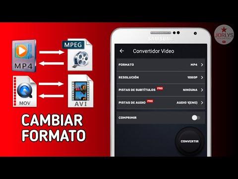 Como CAMBIAR el Formato de un Video Mp4 - MPG - AVI facil y gratis en android - app para convertir