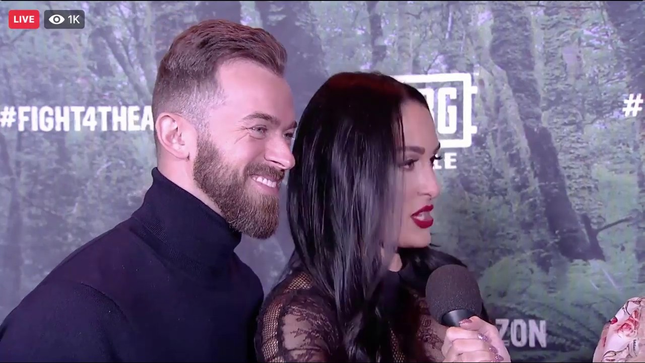 Nikki Bella & Artem Chigvintsev at Global Green event