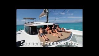Lucia 40-first sail in the Bahamas