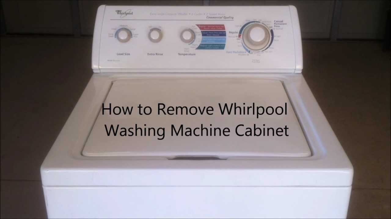 How to remove whirlpool washing machine cabinet youtube for Kitchen cabinet washing machine