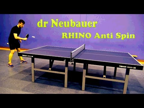 Review Dr. Neubauer Rhino + Anti Spin - table tennis experts