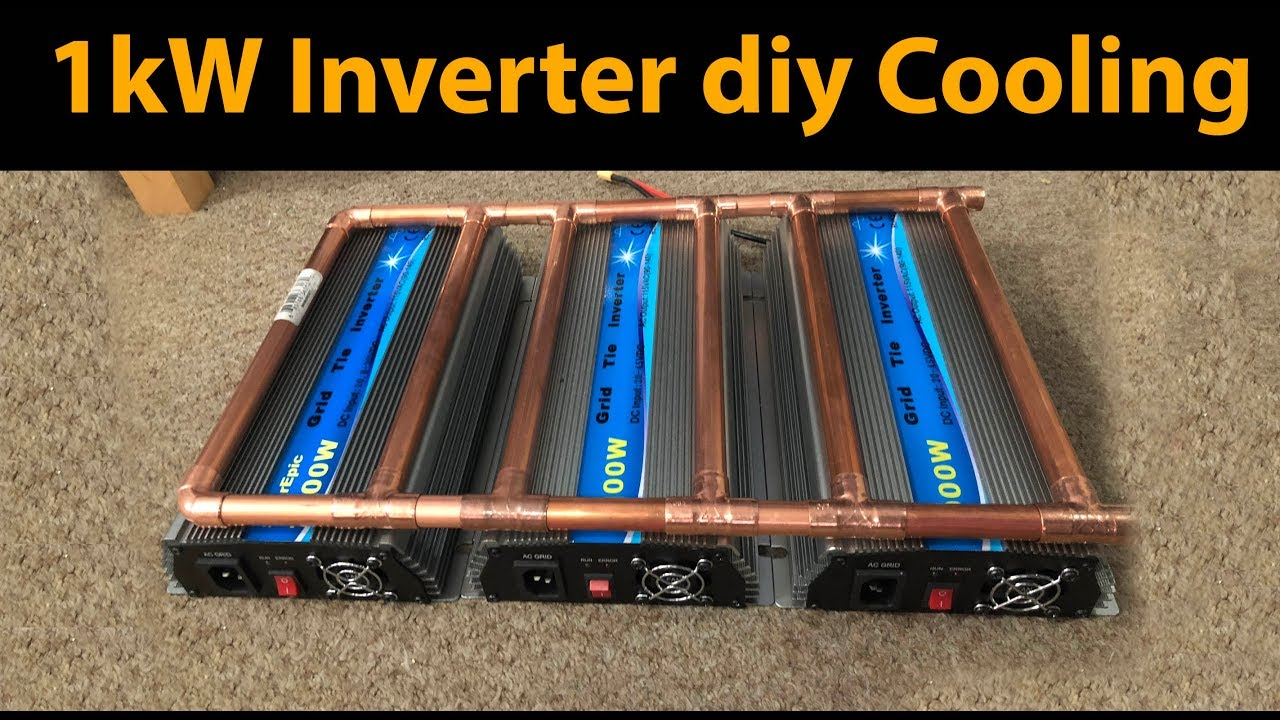 Liquid cooling A cheap 1kW Amazon Grid Tie Inverter Experiment