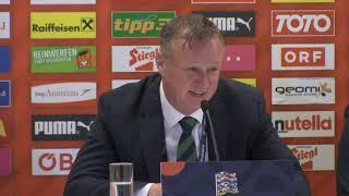 Pressekonferenz von Nordirland nach der 0:1-Niederlage in der Nations League gegen Österreich