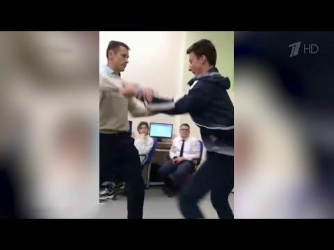 В белгородской школе учитель и ученик подрались на уроке информатики.